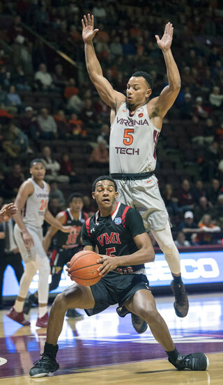 VMI Virginia Tech Basketball