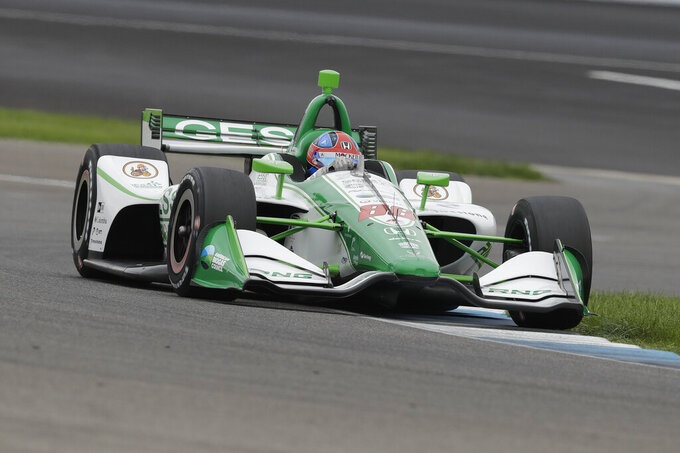 Herta posts fastest time in final warmup for IndyCar GP