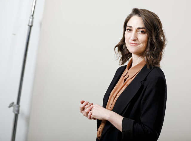 """FILE - Musician Sara Bareilles poses for a portrait in New York on March 26, 2019. The NBCUniversal streaming platform Peacock said Monday the Grammy-winning artist and Broadway songwriter Bareilles will star in """"Girls5eva,"""" co-produced by Tina Fey. (Photo by Brian Ach/Invision/AP, file)"""