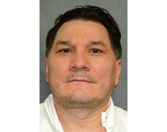 In this undated photo, provided by the Texas Department of Criminal Justice, is Gilmar Guevara. For the second time in as many weeks, Texas' highest criminal court on Wednesday, Sept. 23, 2020, commuted the death sentence of Guevara after agreeing with findings that he was ineligible to be executed because of an intellectual disability. The Texas Court of Criminal Appeals changed the death sentence that Guevara had faced to life in prison without the possibility of parole. (Texas Department of Criminal Justice via AP)