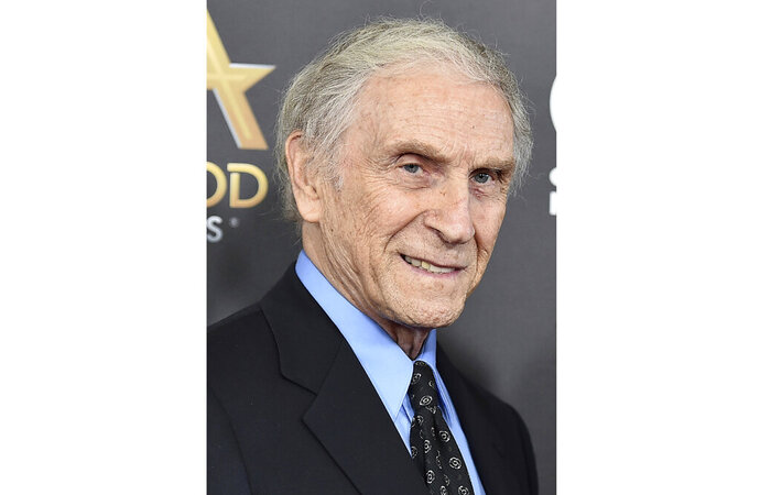 """FILE - In this Nov. 1, 2015, file photo, Peter Mark Richman arrives at the Hollywood Film Awards in Beverly Hills, Calif. Richman, a character actor who appeared in hundreds of television episodes and had recurring roles on """"Three's Company"""