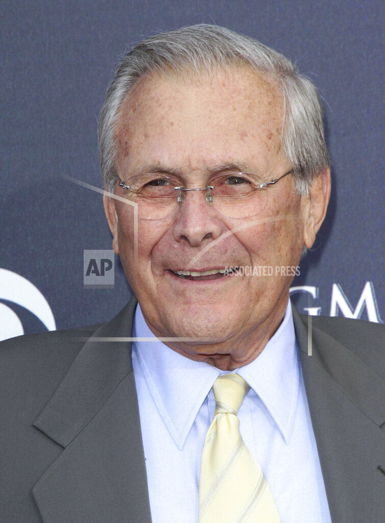 Donald Rumsfeld has passed away at the age 88 - 6/29/21