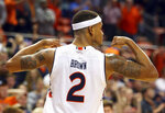 Auburn guard Bryce Brown reacts after dunking against Mississippi during the second half of an NCAA college basketball game Tuesday, Jan. 9, 2018, in Auburn, Ala. Auburn won 85-70. (AP Photo/Butch Dill)