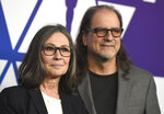 FILE - In this Monday, Feb. 4, 2019 file photo, Donna Gigliotti, left, and Glenn Weiss arrive at the 91st Academy Awards Nominees Luncheon at The Beverly Hilton Hotel in Beverly Hills, Calif. Academy Awards producers Gigliotti and Weiss say that the 91st Oscars are in good shape for Sunday, Feb. 24, 2019. In an interview with The Associated Press Thursday, both said they are feeling confident about the look, the flow and the presenters, which include A-listers and legends like Barbra Streisand, and even a few from outside of the movie business, like Serena Williams. (Photo by Jordan Strauss/Invision/AP, File)