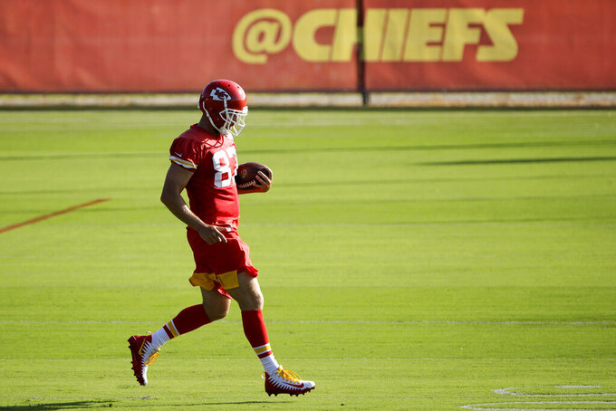 Chiefs tight end Kelce back at practice after ankle surgery