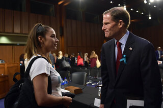 Aly Raisman, Richard Blumenthal
