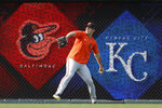 CORRECTS TO JOHN MEANS NOT KEEGAN AKIN - Baltimore Orioles pitcher John Means warms up in the outfield before a baseball game against the Kansas City Royals at Kauffman Stadium in Kansas City, Mo., Friday, July 16, 2021. (AP Photo/Colin E. Braley)