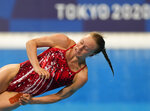 Krysta Palmer of the United States' competes in women's diving 3m springboard semifinal at the Tokyo Aquatics Centre at the 2020 Summer Olympics, Saturday, July 31, 2021, in Tokyo, Japan. (AP Photo/Dmitri Lovetsky)