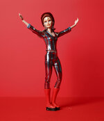 """This image released by Mattel shows a Ziggy Stardust Barbie, honoring the 50th anniversary of the release of David Bowie's iconic """"Space Oddity."""