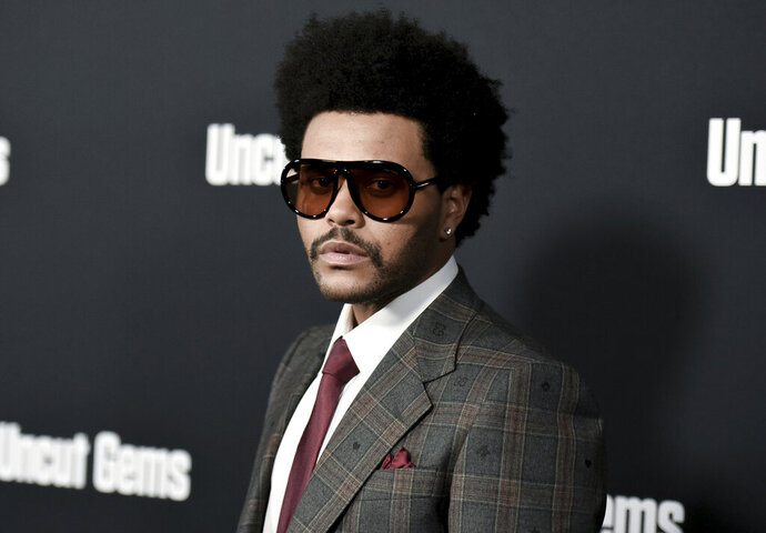 FILE - The Weeknd attends the LA premiere of