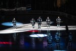 The Seattle Kraken take the ice for the first time against the Vancouver Cannucks in an NHL preseason hockey game Sunday, Sept. 26, 2021, in Spokane, Wash. Dean Rutz/The Seattle Times via AP)