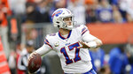 Buffalo Bills quarterback Josh Allen throws during the first half of an NFL football game against the Cleveland Browns, Sunday, Nov. 10, 2019, in Cleveland. (AP Photo/Ron Schwane)