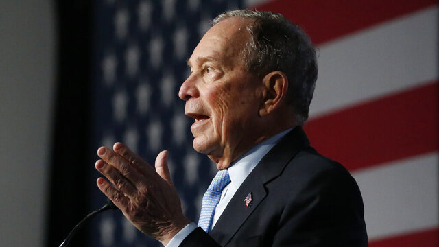 Democratic presidential candidate and former New York City Mayor Mike Bloomberg speaks during a campaign event, Thursday, Feb. 20, 2020, in Salt Lake City. (AP Photo/Rick Bowmer)