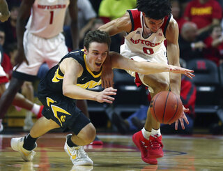 APTOPIX Iowa Rutgers Basketball