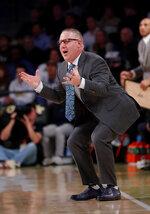 Virginia Tech head coach Buzz Williams reacts in the second half of an NCAA college basketball game against the Georgia Tech Wednesday, Jan. 9, 2019, in Atlanta. Virginia Tech won 52-49. (AP Photo/John Bazemore)