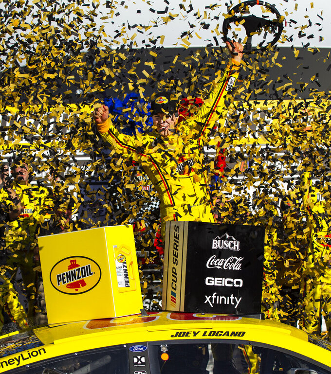 Joey Logano races to second straight Las Vegas victory
