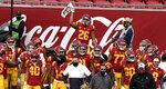 USC Trojans defeated the Arizona State Sun Devils 28-27v during a NCAA football game at the Los Angeles Memorial Coliseum in Los Angeles on Saturday, November 7, 2020. (Keith Birmingham/The Orange County Register via AP)