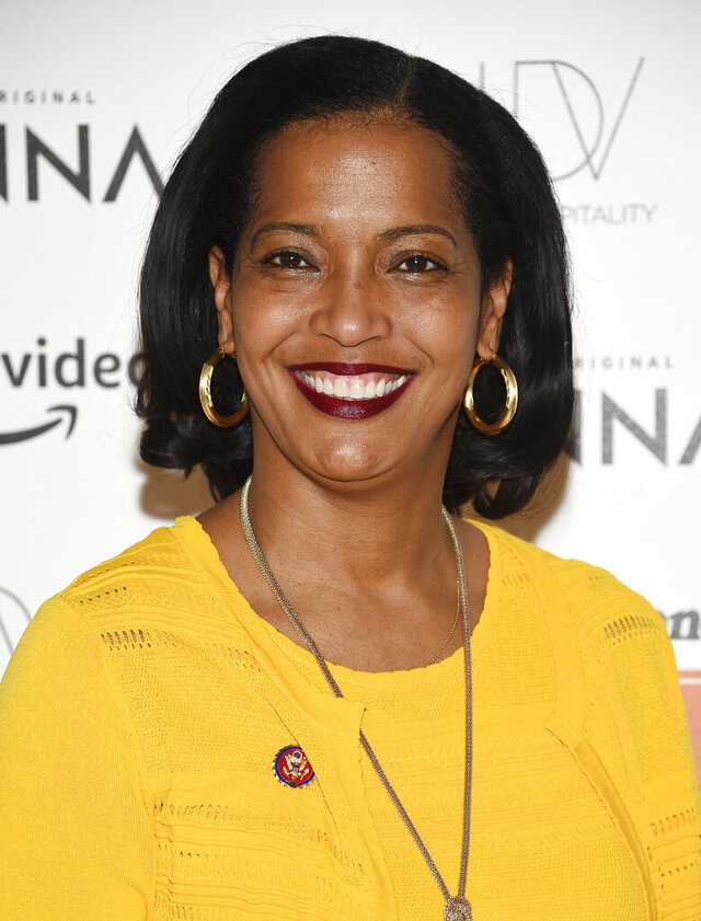 FILE- In this March 20, 2019 file photo, Rep. Jahana Hayes, D-Conn., attends Rolling Stone's Women Shaping the Future brunch in New York. On Saturday, Sept. 19, 2020, Hayes said that she and all of her staff will be quarantining after one of her aides tested positive for the coronavirus. (Photo by Evan Agostini/Invision/AP, File)