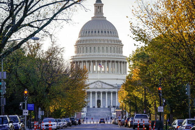 The East Front of the Capitol is seen in Washington, Wednesday, Nov. 4, 2020. (AP Photo/J. Scott Applewhite)