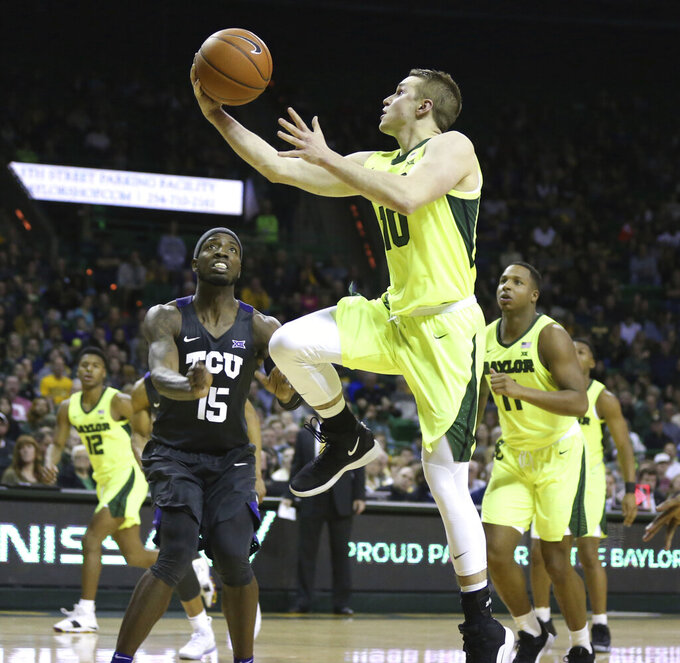 Mason 40 points as Baylor beats TCU 90-64 for 6th win in row