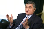 FILE In this file photo taken on Wednesday, Feb. 13, 2019, Russian presidential envoy to Afghanistan Zamir Kabulov gestures while speaking during an interview to the Associated Press in Moscow, Russia. Moscow expects the Taliban to fulfil its pledge not to threaten Russia or its allies in Central Asia, the Kremlin envoy on Afghanistan said in an interview published Wednesday July 14, 2021. Zamir Kabulov, who met with the Taliban delegation that visited Moscow last week, voiced confidence that the Taliban would focus on securing their gains in Afghanistan and wouldn't try to challenge the countries of the region. (AP Photo/Alexander Zemlianichenko, File)