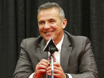 FILE - Then-Ohio State head coach Urban Meyer answers questions during a news conference in Columbus, Ohio, Tuesday, Dec. 4, 2018. Free agency feels a lot like recruiting to new Jaguars coach Urban Meyer. Watching film. Wooing players. Finding the right fits. Given Meyer's penchant for landing five-star prospects at Florida and Ohio State, Jacksonville could be a popular landing spot for some of the NFL's top free agents next week. It certainly should help that the Jaguars have more salary cap space (nearly $73 million) than any other team.(AP Photo/Jay LaPrete, File)