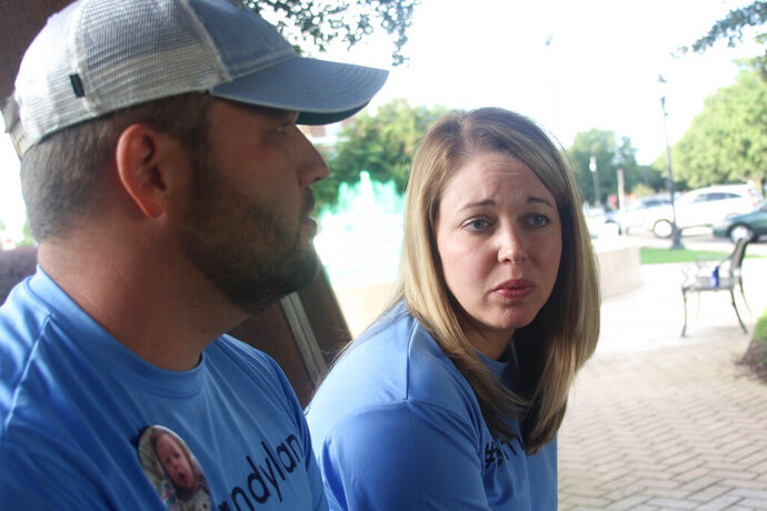 Matt and Melissa Emery, whose son, Dylan, died on Oct. 16, 2018 from complications of Krabbe disease, continue his legacy by supporting other families nationwide. (Adam Benson/The Index-Journal via AP)