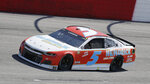 Kyle Larson drives into Turn 1 during the NASCAR Cup Series auto race at Darlington Raceway, Sunday, May 9, 2021, in Darlington, S.C. (AP Photo/Terry Renna)