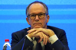 FILE - In this Tuesday, Feb. 9, 2021 file photo, Peter Ben Embarek of a World Health Organization team attends a joint press conference at the end of their mission to investigate the origins of the coronavirus pandemic in Wuhan in central China's Hubei province. Peter Ben Embarek, the head of a World Health Organization team, working with Chinese colleagues to finish a long-awaited report into the origins of the coronavirus, said in interviews on Wednesday and Thursday that the team hopes the report will be ready for release next week. (AP Photo/Ng Han Guan, file)