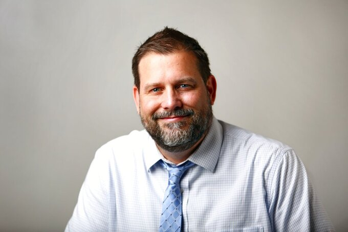 Mitch Pugh was named editor-in-chief for the Chicago Tribune on Tuesday Aug. 10, 2021. Pugh was the executive editor of The Post and Courier in South Carolina. (Wade Spees/The Post And Courier via AP)