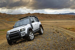 This photo provided by Jaguar Land Rover Ltd. shows the 2021 Land Rover Defender. The Defender combines luxury and off-road capability in the same sleek package, with lots of options for owners that want to go far off the beaten path. (Nick Dimbleby/Jaguar Land Rover Ltd. via AP)
