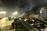 """In this photo provided by the North Korean government, military hardware is seen during a celebration of the nation's 73rd anniversary that was overseen by leader Kim Jong Un, at Kim Il Sung Square in Pyongyang, North Korea, early Thursday, Sept. 9, 2021. Independent journalists were not given access to cover the event depicted in this image distributed by the North Korean government. The content of this image is as provided and cannot be independently verified. Korean language watermark on image as provided by source reads: """"KCNA"""" which is the abbreviation for Korean Central News Agency. (Korean Central News Agency/Korea News Service via AP)"""