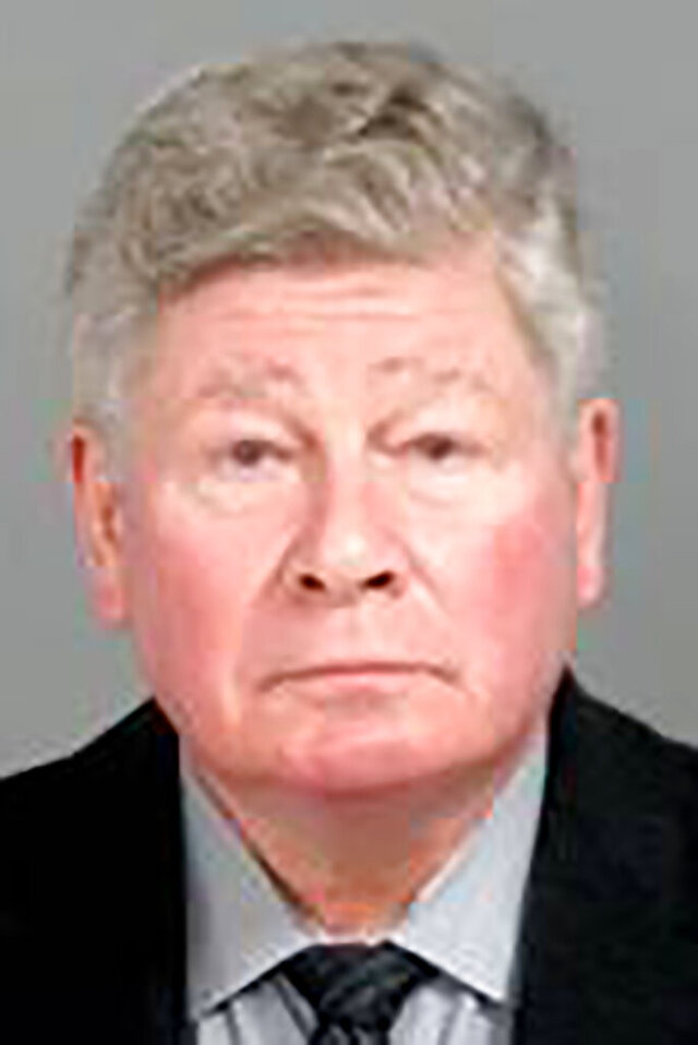 This image provided by the Genesee County, Mich., Sheriff's Office, shows Richard Baird, the former Michigan Transformation manager, who was charged Thursday, Jan. 14, 2021, with felony perjury and other charges, in connection with the Flint, Mich., water crisis. (Genesee County Sheriff's Office via AP)