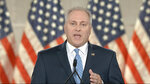 In this image from video, House Minority Whip Rep. Steve Scalise, R.La., speaks from Washington, during the first night of the Republican National Convention Monday, Aug. 24, 2020. (Courtesy of the Committee on Arrangements for the 2020 Republican National Committee via AP)