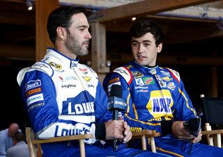 Chase Elliott, Jimmie Johnson