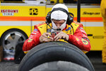 Tires for driver Brad Keselowski are checked during the NASCAR Cup Series auto race Sunday, May 17, 2020, in Darlington, S.C. (AP Photo/Brynn Anderson)