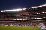 The United States plays against Portugal during the first half of an international friendly soccer match Thursday, Aug. 29, 2019, in Philadelphia. (AP Photo/Matt Slocum)