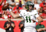 South Florida quarterback Blake Barnett looks to pass during the first half of an NCAA college football game against Houston, Saturday, Oct. 27, 2018, in Houston. (AP Photo/Eric Christian Smith)