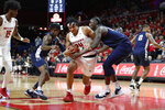 Rutgers guard Ron Harper Jr. (24) drives to the basket against Penn State forward Mike Watkins (24) during the first half of an NCAA college basketball game Tuesday, Jan. 7, 2020, in Piscataway, N.J. (AP Photo/Michael Owens)