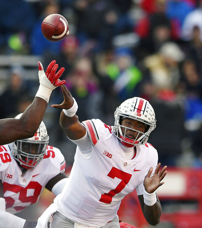 First-year starter Haskins waited, then broke records