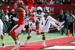 Northern Illinois quarterback Ross Bowers scores against Utah in the first half of an NCAA college football game Saturday, Sept. 9, 2019, Salt Lake City. (AP Photo/Rick Bowmer)
