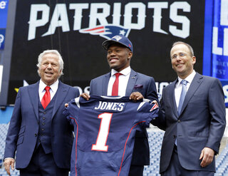 Cyrus Jones, Robert Kraft, Jonathan Kraft