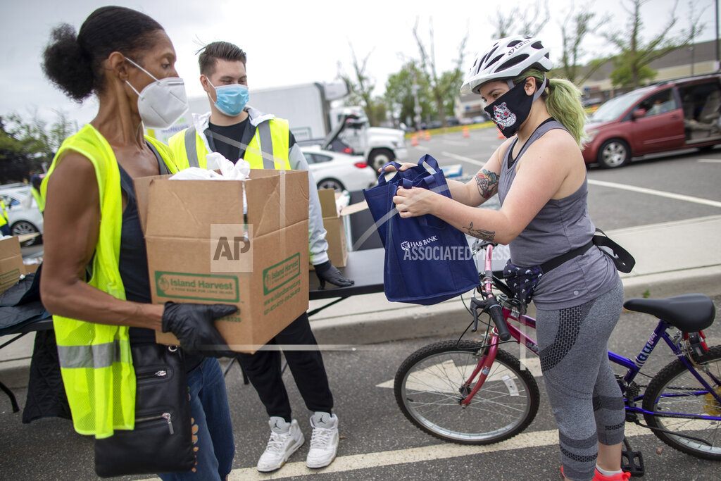 Virus Outbreak Food Bank First Timers