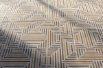 This undated photo shows This undated photo shows Sant-Agonstino's Timewood, which creates a wood pattern embedded within cement look tile. (Ceramics of Italy via AP)