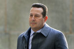 FILE - In this Jan. 25, 2019 file photo, Attorney Jose Baez arrives at New York Supreme Court in New York. Baez is going to court Thursday, June 11, to get a judge's permission to leave Harvey Weinstein's defense team. Baez told Judge James Burke in a June 2019 letter that Weinstein has tarnished their relationship by communicating only through other lawyers and by failing to abide by a fee agreement. Weinstein is charged with raping a woman in 2013 and performing a forcible sex act on a different woman in 2006. He denies the allegations. (AP Photo/Julio Cortez, File)