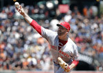 Cincinnati Reds pitcher Matt Harvey throws against the San Francisco Giants during the third inning of a baseball game in San Francisco, Wednesday, May 16, 2018. (AP Photo/Jeff Chiu)