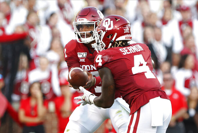 Hurts' rushing performance in opener tops Oklahoma greats