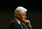 "FILE - In this Monday, Oct. 30, 2017, file photo, former President Bill Clinton listens during a panel discussion in Baltimore. FX says the next chapter of its ""American Crime Story"" series will dramatize Clinton's impeachment. The miniseries will air Sept. 27, 2020, within weeks of the general election. (AP Photo/Patrick Semansky, File)"