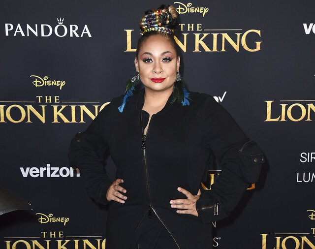 FILE - In this July 9, 2019 file photo, Raven-Symone arrives at the world premiere of