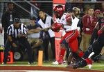 Utah's Zack Moss (2) runs for a touchdown against Stanford during the first half of an NCAA college football game Saturday, Oct. 6, 2018, in Stanford, Calif. (AP Photo/Ben Margot)